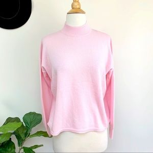 New Madewell cashmere smocked neck sweater